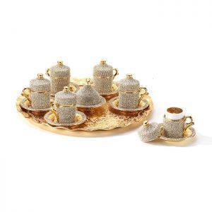 swarowksi coffee set