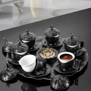 Turkish Coffee Set For Six Person Antique