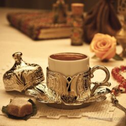 Silver Turkish-Espresso Coffee Cup