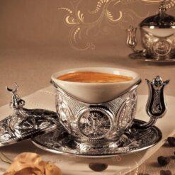 Silver Demitasse Espresso Coffee Cup