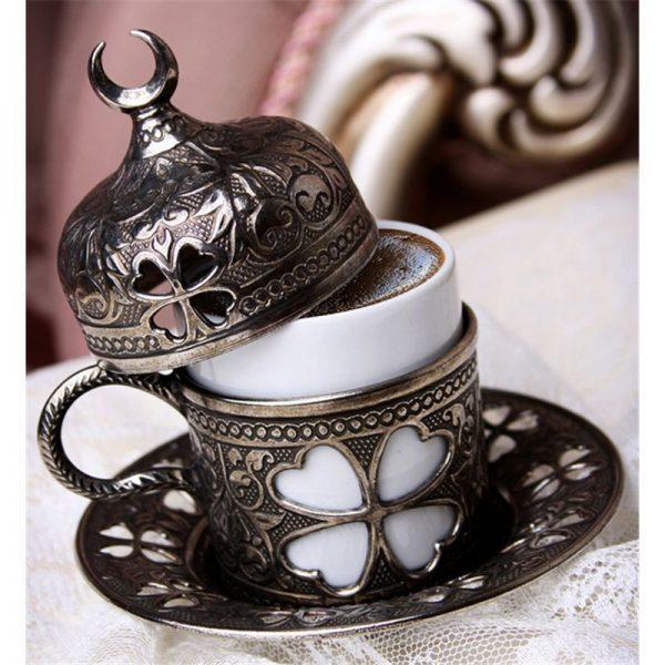 Antique Turkish-Espresso Coffee Cup Clover Design