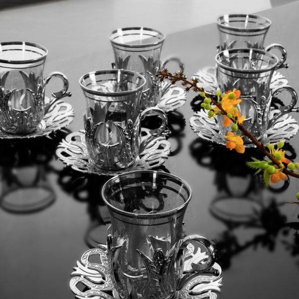 Elegant Tea Cups Turkish Style