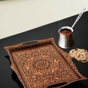Copper Plated Vintage Tea Tray