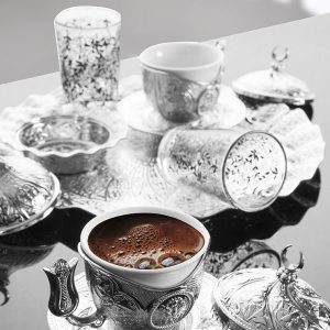 Turkish Coffee Gift Set For Two Person With Glasses