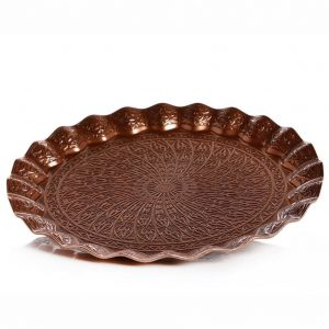 Copper Plated Ottoman Serving Tray 25 cm