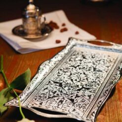 Silver Plated  Decorative Ottoman Serving Tray