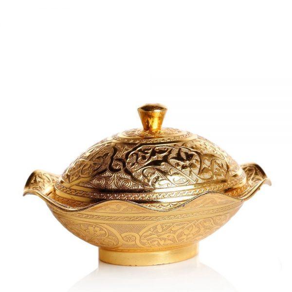 Gold Colour Decorative  Snack and Sugar  Bowl