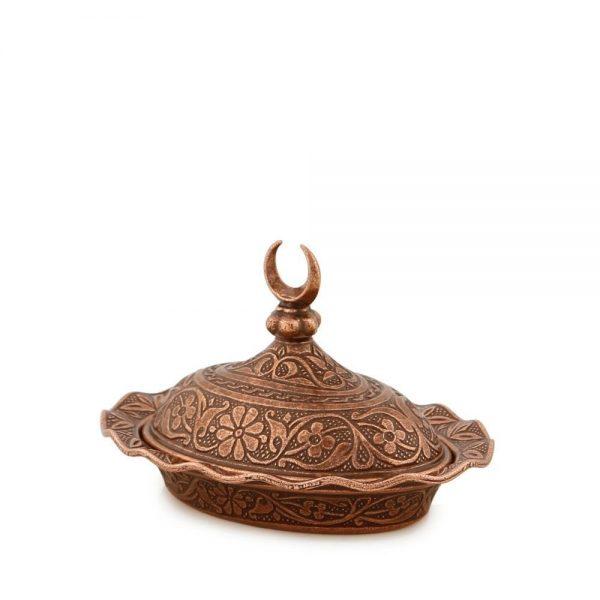 Small Copper Decorative  Metal Sugar and Delight  Bowl
