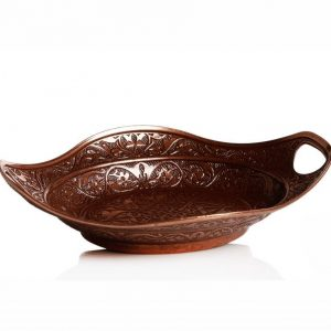 Copper Colour Decorative  Sugar And Snack Bowl