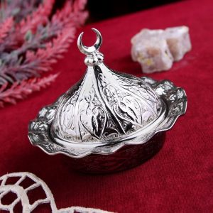 Small Decorative Metal Sugar and Delight  Bowl