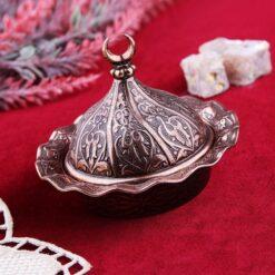 Small Decorative Metal Sugar and Delight  Bowl