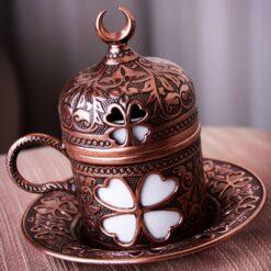 Turkish Coffee Cups Clover Design