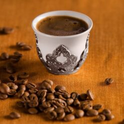 Silver Colour Turkish Coffee-Mırra Cup