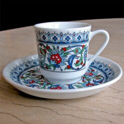 Kutahya Porcelain Topkapi Coffee Set For Six Person Tile  Design