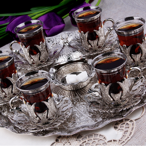Silver Plated  Tea Cups For Six Person