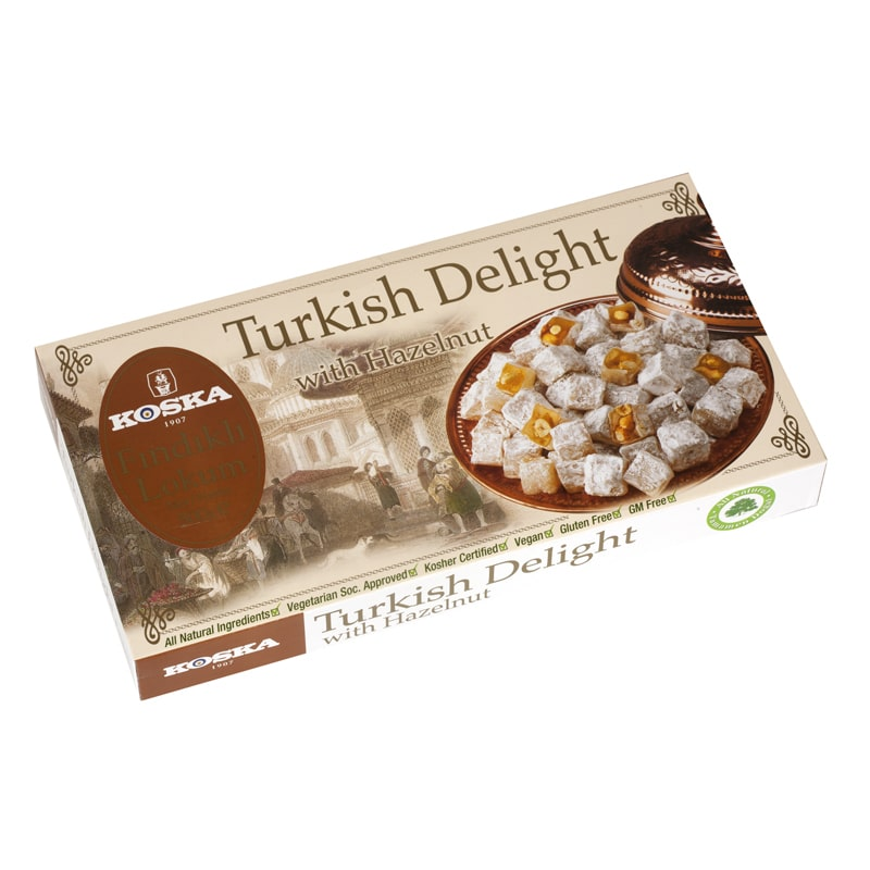 Koska Turkish Delight With Hazelnut 500 Gr Fairturk Com