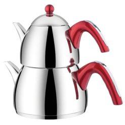 Stainless Steel Turkish Tea Pot -Caydanlik-Double Kettle