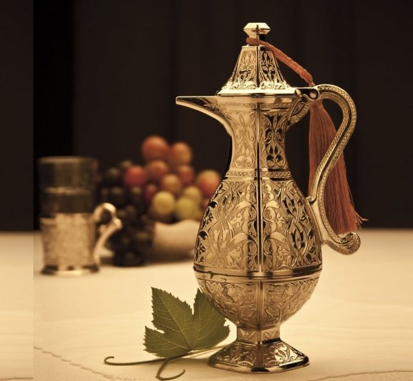 Small Silver Plated Water Pitcher With Lid
