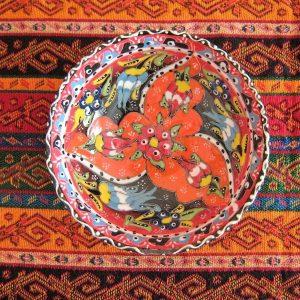 Turkish Handmade Iznik  Turkish Ceramic Bowl