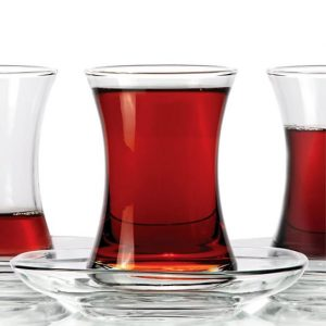 Thin Waist Turkish Tea Cups For Six Plain Design