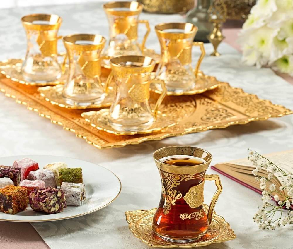 Arabic Tea Set For Six With Tray Fairturk Com