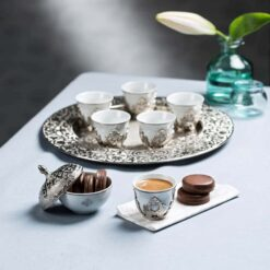 Silver Espresso Mırra Coffee Set Cups Set For Six Person