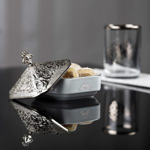 Large Silver Plated Round Chocolate Snack Bowl