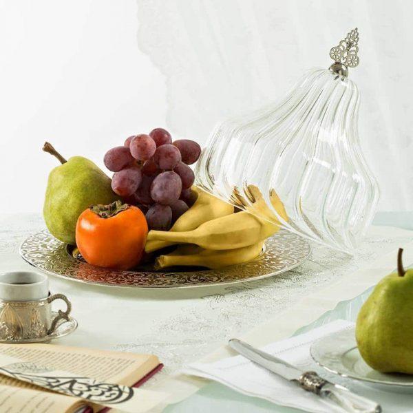 Large Glass Fruit Bowl