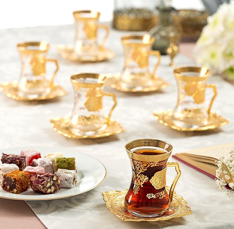 Arabic Tea Set Gold Colour Fairturk Com