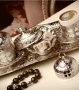 coffee set clover design