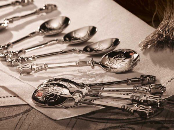 Silver Plated Turkish Tea Spoon  12  Pcs