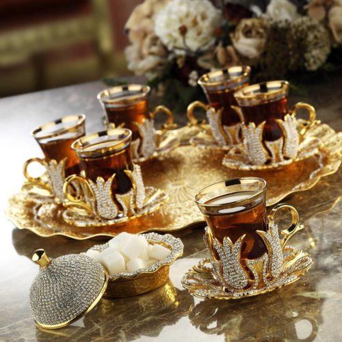 swarowski tea set