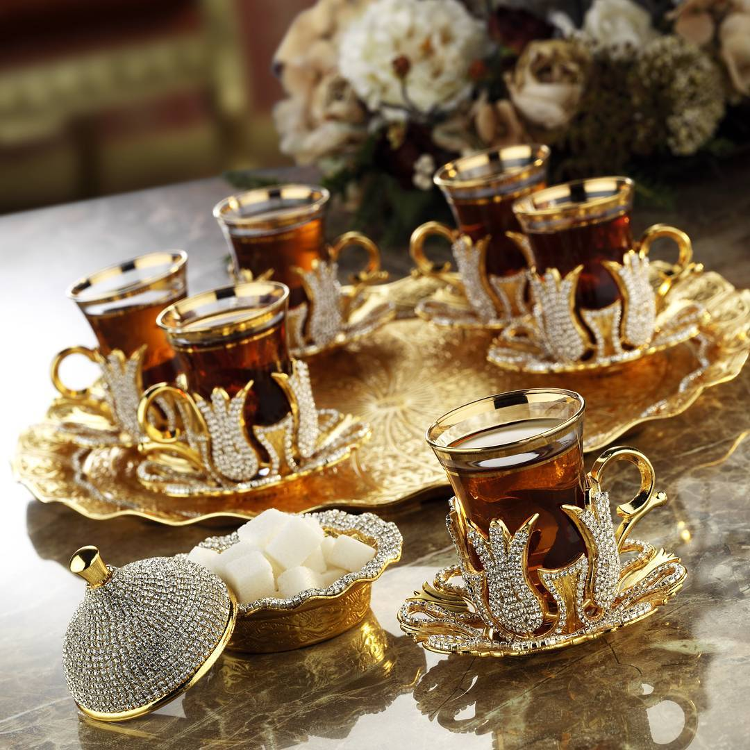 swarowski tea set