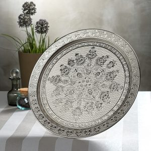 Authentic Round Silver Salver