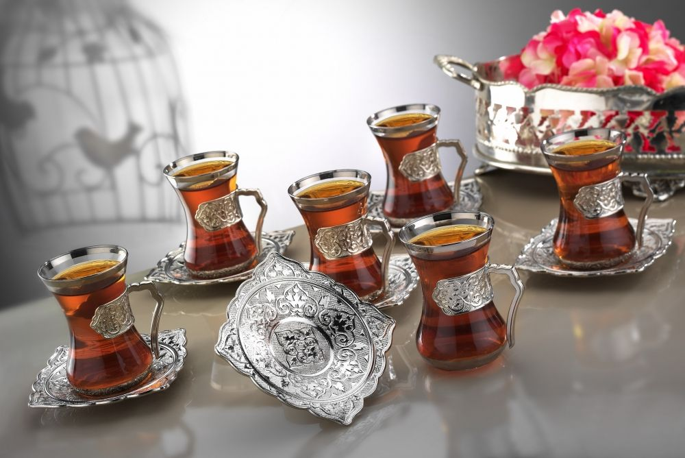 Silver Plated Arabic Tea Set Plain Model Fairturk Com
