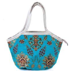 Blue Handmade Carpet Bag