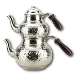 Handmade Silver Plated Copper Turkish Tea Pot Kettle