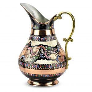 Hand Painted Pure Copper Pitcher