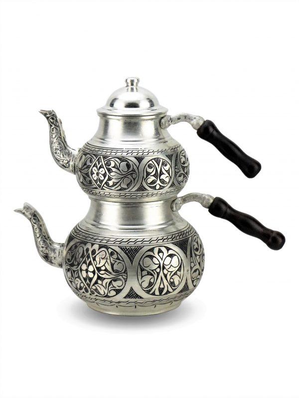 Handmade Antique Design Copper Turkish Tea Pot Hand Graved Spout