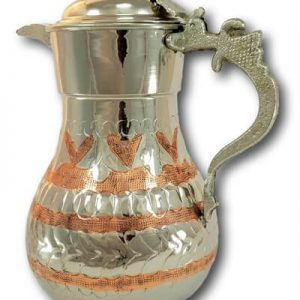 Hand Carved Thick Copper Water Pitcher