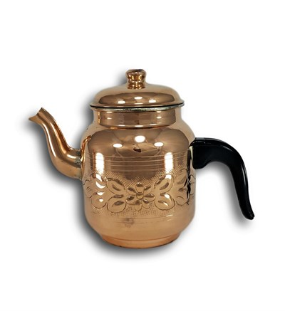 Handmade Copper Vintage Design Turkish Tea Pot