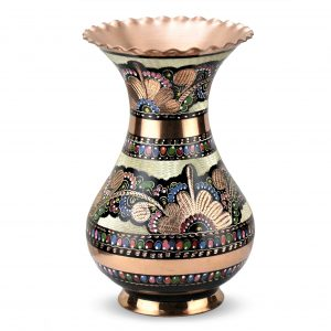 Hand Painted Copper Vase