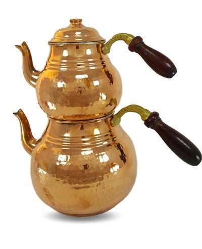 Turkish Style Double Original Copper Tea Kettle Pot