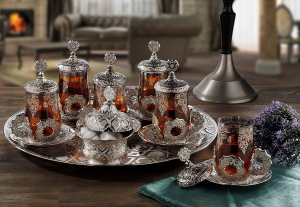 Latest Model Turkish - Arabic Tea Set For Six With Tray