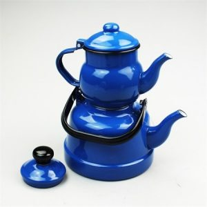 Retro Enamel Turkish Double Tea Pot