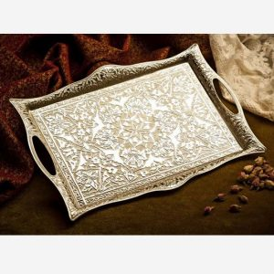 Silver Plated Turkish Style Tea Tray