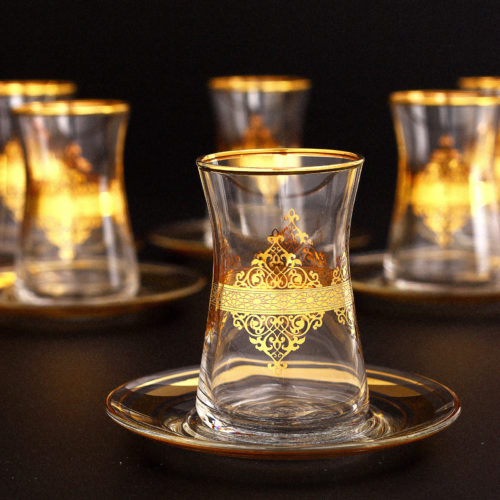 Gold arabic tea set