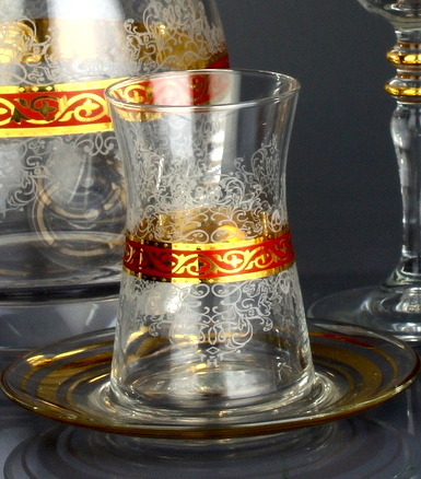 Red Turkish Tea Glasses