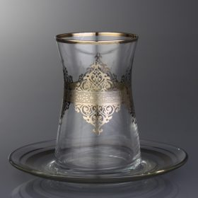 Ottoman Style Turkish Tea Set For Six Person