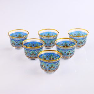 Segah Ethnic Arabic Coffee-Mirra Cups Six Pieces